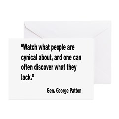 Patton Cynical People Quote Greeting Cards (Pk of