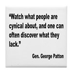 Patton Cynical People Quote Tile Coaster