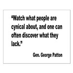 Patton Cynical People Quote Small Poster