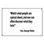 Patton Cynical People Quote Banner