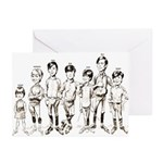 1960s Cartoon Line-up Greeting Cards (Pk of 10