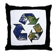 Recycle Earth Throw Pillow