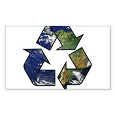 Recycle Earth Rectangle Decal