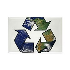 Recycle Earth Rectangle Magnet (100 pack)