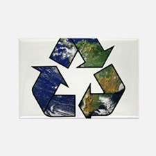 Recycle Earth Rectangle Magnet