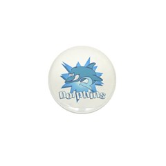 Dolphins Mini Button (10 pack)