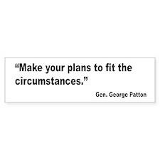 Patton Planning Quote Bumper Bumper Sticker