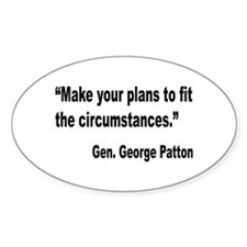 Patton Planning Quote Oval Decal