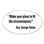 Patton Planning Quote Oval Sticker (10 pk)