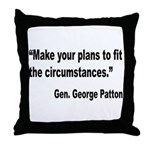 Patton Planning Quote Throw Pillow