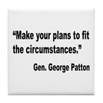 Patton Planning Quote Tile Coaster