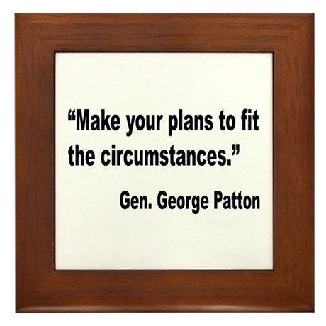 Patton Planning Quote Framed Tile