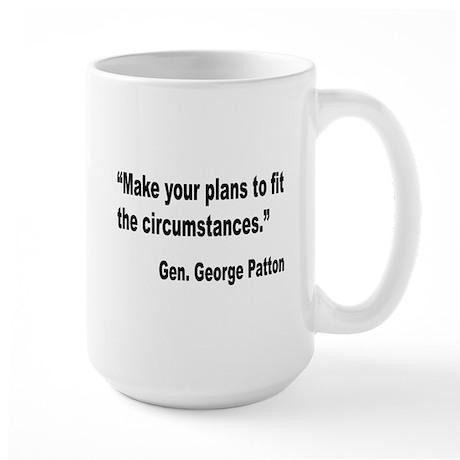 Patton Planning Quote Large Mug