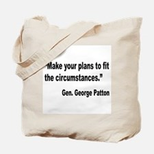 Patton Planning Quote Tote Bag
