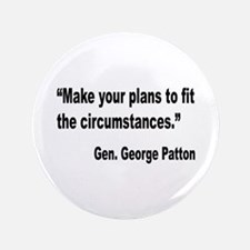 "Patton Planning Quote 3.5"" Button"