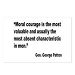 Patton Moral Courage Quote Postcards (Package of 8