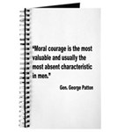 Patton Moral Courage Quote Journal