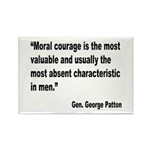 Patton Moral Courage Quote Rectangle Magnet