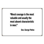 Patton Moral Courage Quote Banner