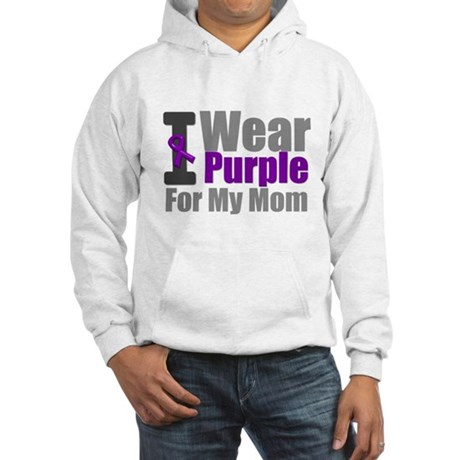 PurpleRibbon Mom Hooded Sweatshirt
