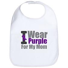 PurpleRibbon Mom Bib