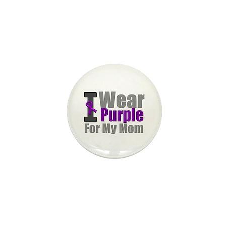 PurpleRibbon Mom Mini Button