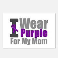PurpleRibbon Mom Postcards (Package of 8)