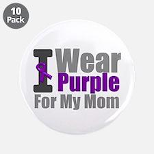 "PurpleRibbon Mom 3.5"" Button (10 pack)"