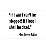 Patton Win Lose Quote Postcards (Package of 8)