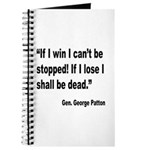Patton Win Lose Quote Journal