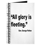 Patton Fleeting Glory Quote Journal