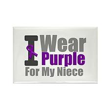 PurpleRibbon Mom Rectangle Magnet