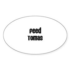 Feed Tomas Oval Decal