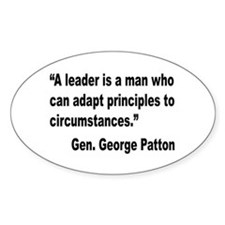 Patton Leader Quote Oval Decal