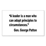 Patton Leader Quote Rectangle Sticker