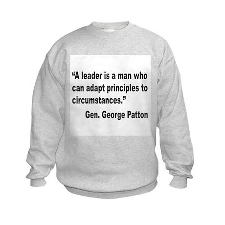Patton Leader Quote (Front) Kids Sweatshirt