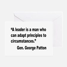 Patton Leader Quote Greeting Card