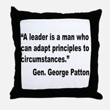 Patton Leader Quote Throw Pillow