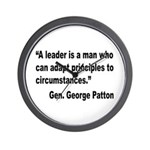 Patton Leader Quote Wall Clock