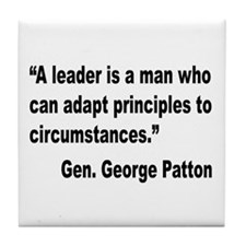 Patton Leader Quote Tile Coaster
