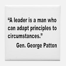 Patton Leader Quote Tile Coaster