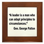 Patton Leader Quote Framed Tile