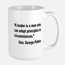 Patton Leader Quote Large Mug
