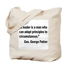Patton Leader Quote Tote Bag