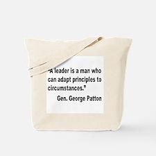 Patton Leader Quote Tote Bag