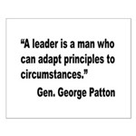 Patton Leader Quote Small Poster
