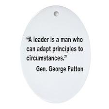 Patton Leader Quote Oval Ornament