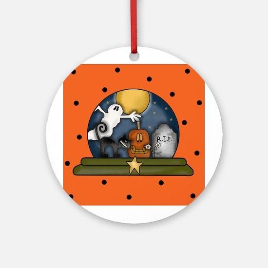 Halloween Snow Globe Ornament (Round)