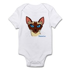Painted Siamese Cat Face Infant Bodysuit