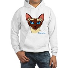 Painted Siamese Cat Face Hoodie